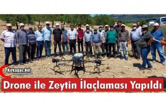 KIRKAĞAÇ'TA DRONE İLE ZEYTİN İLAÇLAMASI...