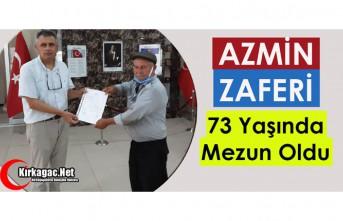 AZMİN ZAFERİ..73 YAŞINDA DİPLOMASINI ALDI