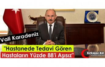 """KARADENİZ """"HASTANEDE TEDAVİ GÖRENLERİN %..."""