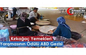 """""""KIRKAĞAÇ YEMEKLERİ"""" YARIŞMASININ ÖDÜLÜ..."""