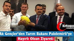 AK GENÇLER'DEN TARIM BAKANI PAKDEMİRLİ'YE ZİYARET