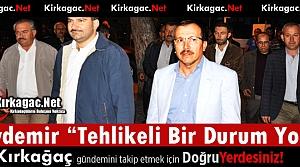 """AK PARTİLİ AYDEMİR 'HERHANGİ TEHLİKELİ BİR DURUM YOK""""( VİDEO)"""