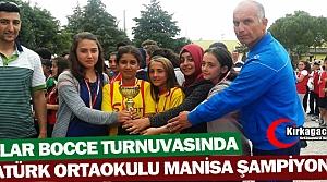 ATATÜRK ORTAOKULU BOCCE'DE MANİSA ŞAMİYONU