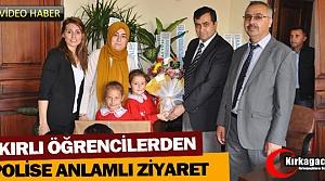 """BAKIRLI ÖĞRENCİLERDEN 'POLİSE"""" ANLAMLI ZİYARET(VİDEO)"""