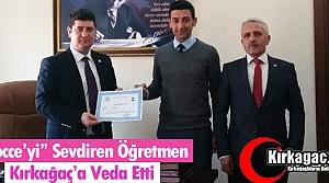 BOCCE'Yİ SEVDİREN ÖĞRETMEN KIRKAĞAÇ'A VEDA...