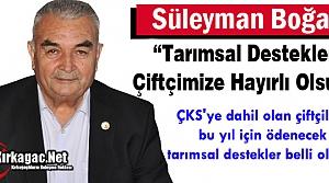 """BOĞAZ 'TARIMSAL DESTEKLER ÇİFTÇİMİZE HAYIRLI OLSUN"""""""
