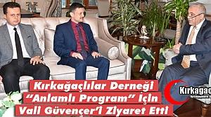 """BURUŞ 'ANLAMLI PROGRAM"""" İÇİN GÜVENÇER'İ ZİYARET ETTİ"""