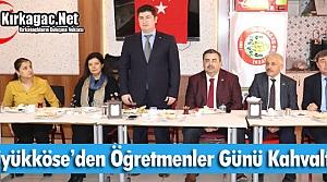 """BÜYÜKKÖSE'DEN """"ÖĞRETMENLER GÜNÜ"""" KAHVALTISI"""