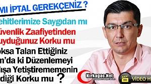 "CHP'Lİ İREN'DEN GEDÜZ'E 'İPTAL"" TEPKİSİ(VİDEO)"