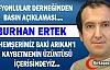"""ERTEK """"ARIKAN'I KAYBETMENİN ÜZÜNTÜSÜ İÇERİSİNDEYİZ"""""""