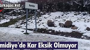 HAMİDİYE'DE KAR EKSİK OLMUYOR