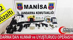 Jandarma'dan Kumar ve Uyuşturucu Operasyonu 12 Gözaltı