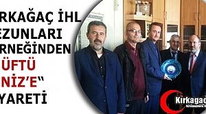 KIRKAĞAÇ İHL MEZUNLARI DERNEĞİNDEN 'MÜFTÜ DENİZ'E' ZİYARET