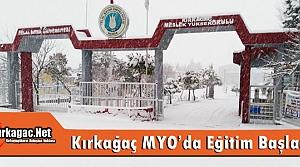 KIRKAĞAÇ MYO'DA EĞİTİM-ÖĞRETİM NORMALE DÖNDÜ