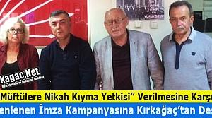 KIRKAĞAÇLI CHP'LİLER KAMPANYAYA DESTEK VERDİ