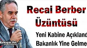KIRKAĞAÇ'TA 'RECAİ BERBER' ÜZÜNTÜSÜ