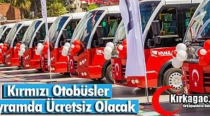 KIRMIZI OTOBÜSLER BAYRAMDA ÜCRETSİZ
