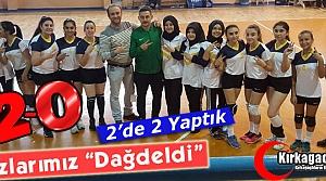 """KIZLARIMIZ 'DAĞDELDİ"""" 2-0"""