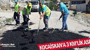 KOCAİSKAN'A 3 KM'LİK ASFALT