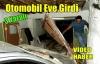 OTOMOBİL EVE GİRDİ 3 YARALI(VİDEO)