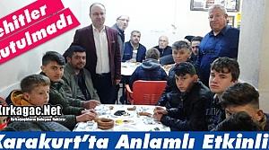 ŞEHİTLER KARAKURT'TA UNUTULMADI