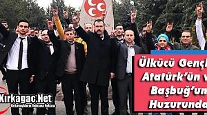 ÜLKÜCÜ GENÇLER ATATÜRK'ÜN ve BAŞBUĞ'UN HUZURUNDA
