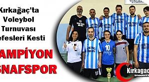 VOLEYBOL'DA ŞAMPİYON ESNAFSPOR