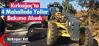 4 MAHALLEDE YOLLAR BAKIMA ALINDI