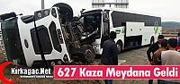 627 TRAFİK KAZASI MEYDANA GELDİ