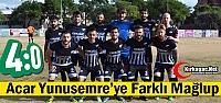 ACAR YUNUSEMRE'YE FARKLI YENİLDİ 4-0
