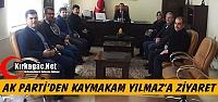 AK PARTİ'DEN KAYMAKAM YILMAZ'A ZİYARET