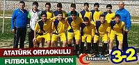 ATATÜRK ORTAOKULU FUTBOLDA ŞAMPİYON 3-2