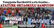 ATATÜRK ORTAOKULU VOLEYBOL DA ŞAMPİYON 3-0(VİDEO)