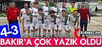 BAKIR G.BİRLİĞİSPOR'A YAZIK OLDU 4-3