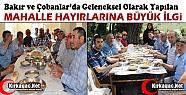 BAKIR ve ÇOBANLAR MAHALLELERİ YEMEK HAYRI...