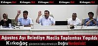 BELEDİYE MECLİSİ AĞUSTOS AYI TOPLANTISINI GERÇEKLEŞTİRDİ
