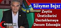 BOĞAZ 'ZEYTİN ÜRETİCİLERİNİ DESTEKLEMEYE DEVAM EDECEĞİZ'