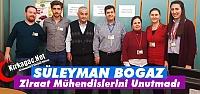 """BOĞAZ 'ZİRAAT MÜHENDİSLERİNİ"""" UNUTMADI"""