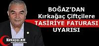 """BOĞAZ'DAN 'TASİRİYE FATURASI"""" UYARISI"""