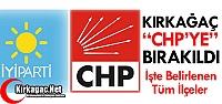 KIRKAĞAÇ 'CHP'YE' BIRAKILDI