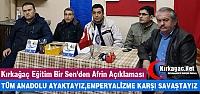 KIRKAĞAÇ EĞİTİM BİR SEN'DEN AFRİN...