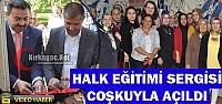 KIRKAĞAÇ HALK EĞİTİMİ SERGİSİ COŞKUYLA...