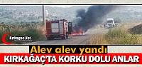 KIRKAĞAÇ'TA SEYİR HALİNDEKİ OTOMOBİL...