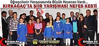 KIRKAĞAÇ'TA 'ŞİİR YARIŞMASI'...