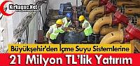 MASKİ'DEN 21 MİLYON TL'LİK YATIRIM