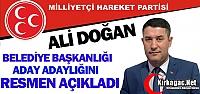 MHP'Lİ DOĞAN RESMEN AÇIKLADI