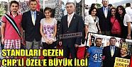 STADLARI GEZEN CHP'Lİ ÖZEL'E BÜYÜK İLGİ