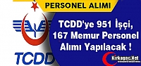 TCDD'ye 951 İşçi, 167 Memur Personel...