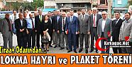 ZRAAT ODASINDAN LOKMA HAYRI ve PLAKET...