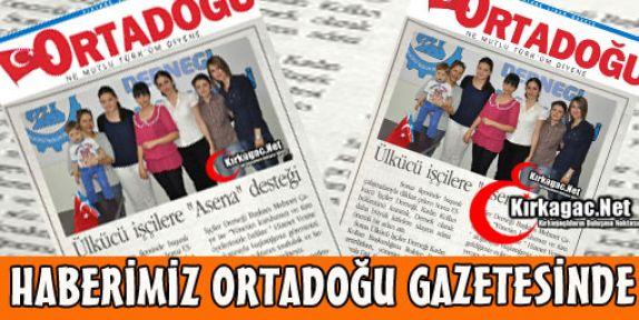 ÜLKÜCÜ İŞÇİLERE 'ASENA' DESTEĞİ(ORTADOĞU)